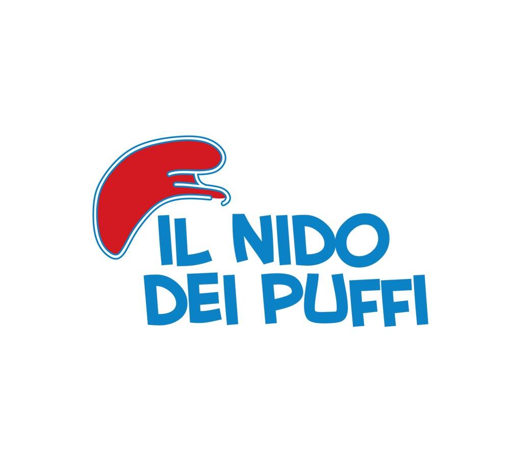 Logo ufficiale asilo il nido dei puffi