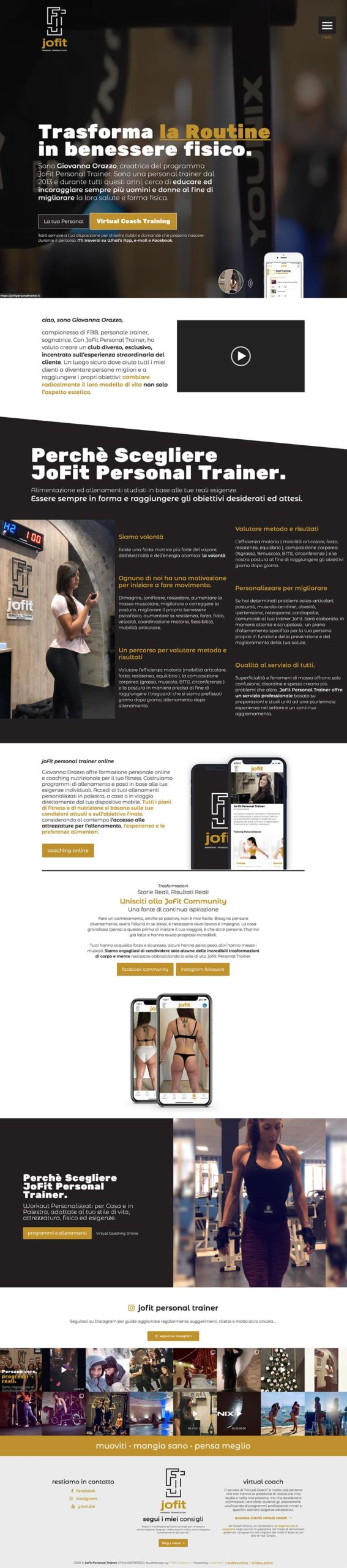JoFit Personal Trainer Webdesign